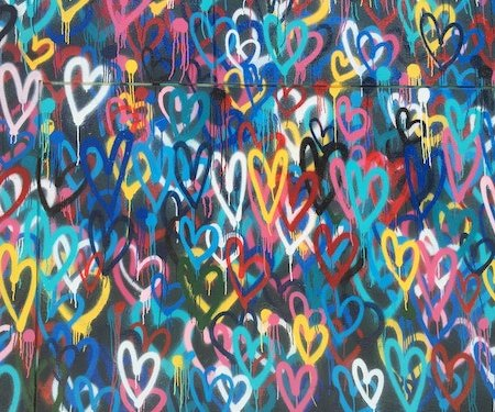 Photo of graffiti hearts